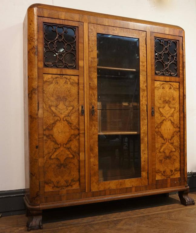 Belgian Art Deco Three-Door Armoire, circa 1930 For Sale