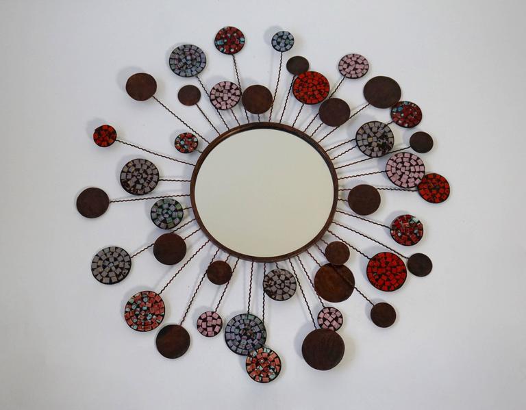 Mid-Century Modern Ceramic Mirror For Sale