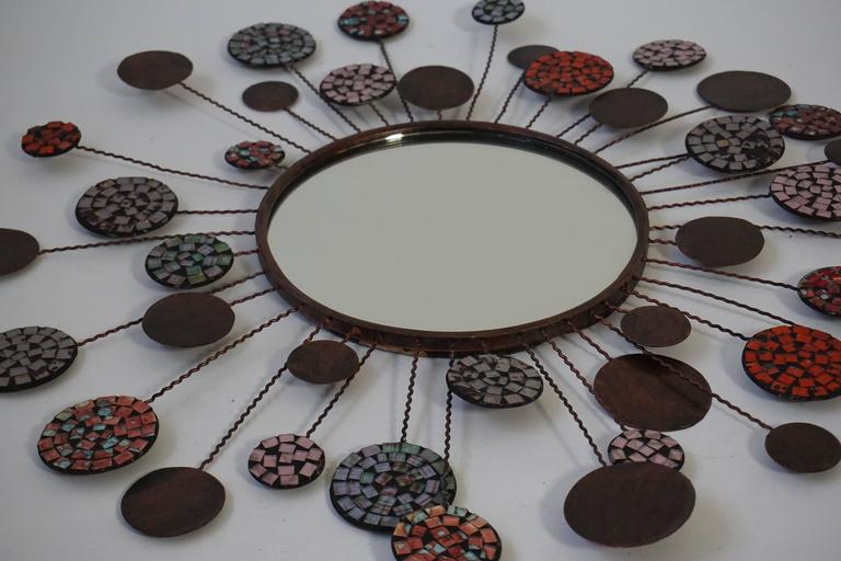 Ceramic Mirror In Good Condition For Sale In Antwerp, BE
