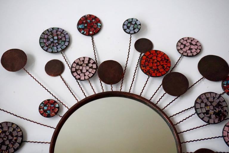 20th Century Ceramic Mirror For Sale