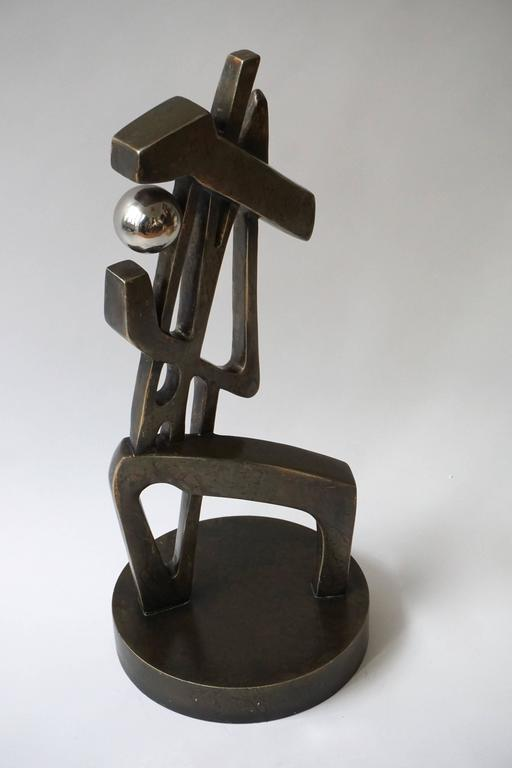 Metal Abstract Sculpture For Sale