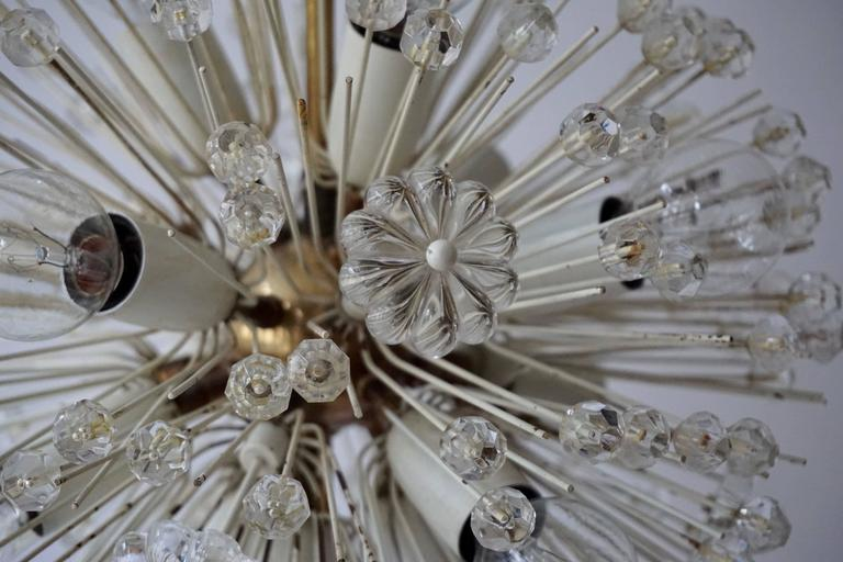 Fabulous Emil Stejnar Snowball Orbit Sputnik Chandelier Vintage Austria Rubert N In Good Condition For Sale In Antwerp, BE