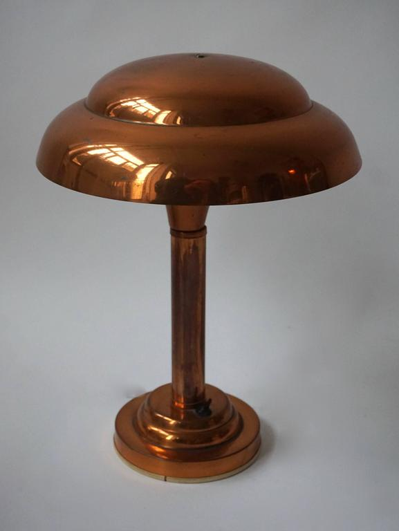 Belgian Art Deco Table Lamp For Sale