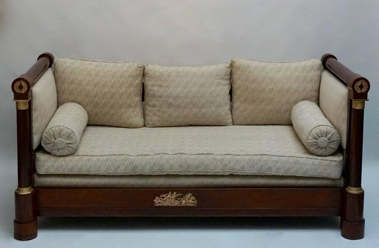 A Beautiful Mahogany Empire Mahogany Settee 7
