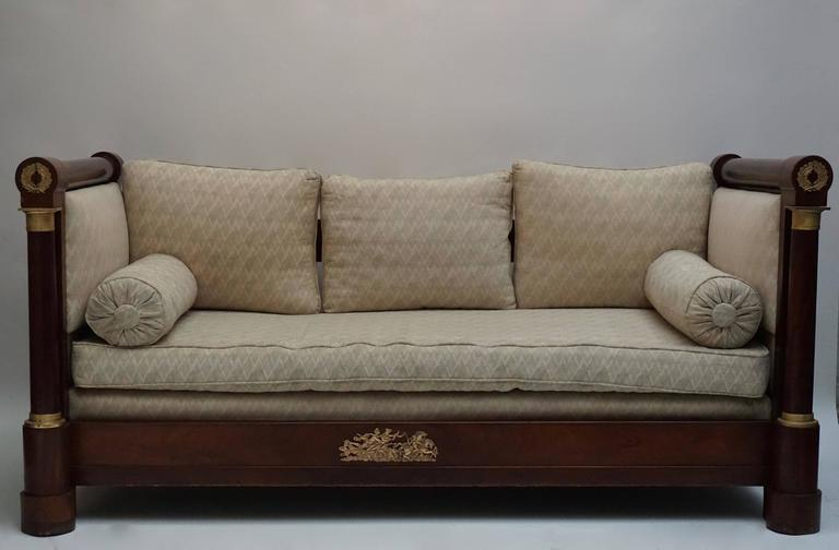 A Beautiful Mahogany Empire Mahogany Settee 2