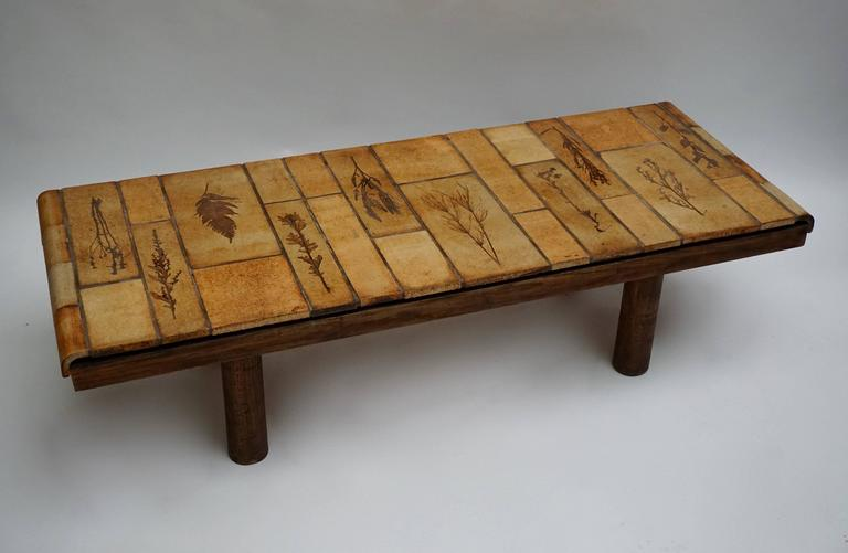 Mid-Century Modern Ceramic Coffee Table by Roger Capron For Sale