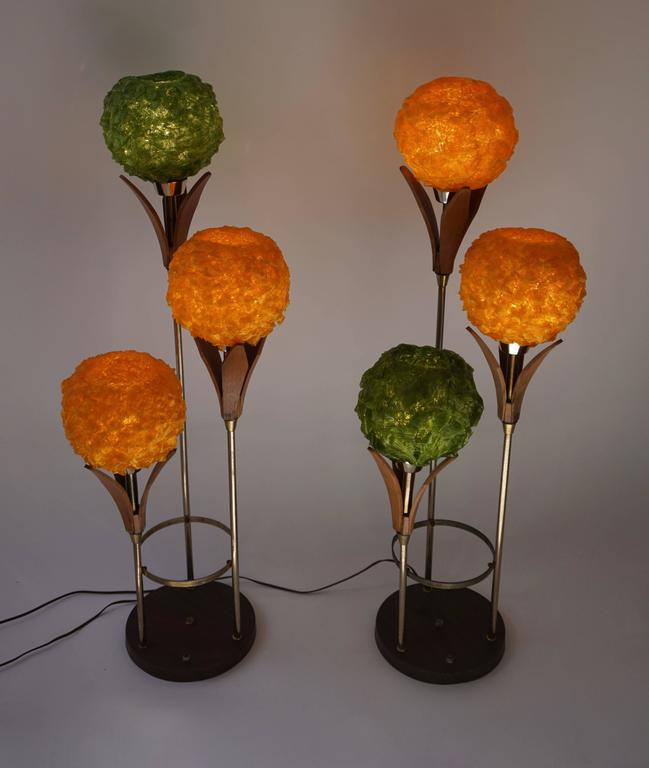 Italian Two Floor Lamps For Sale