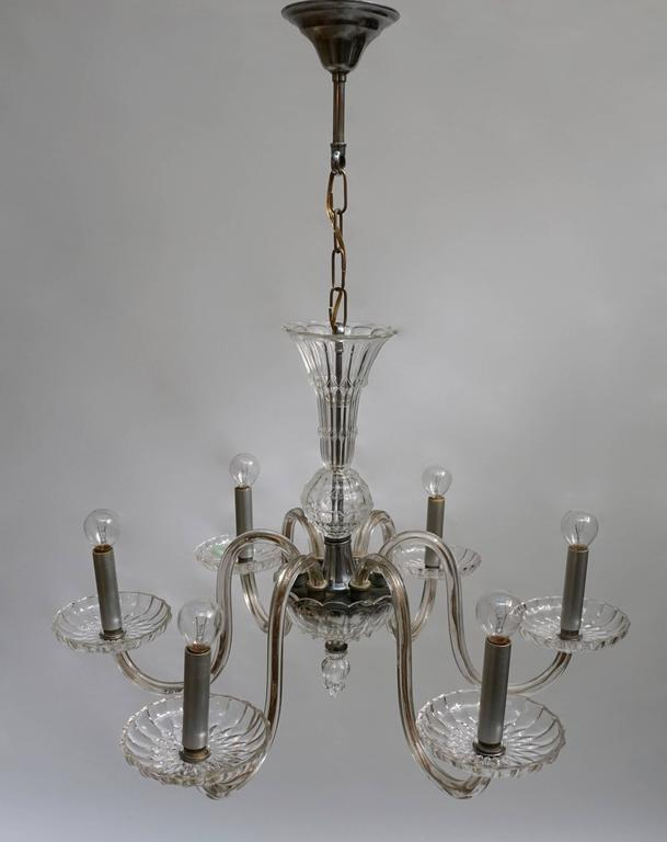 Mid-Century Modern Venetian Glass Chandelier For Sale