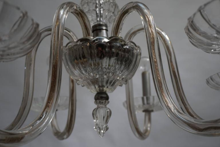 20th Century Venetian Glass Chandelier For Sale