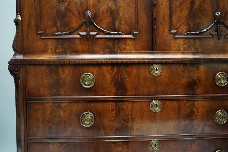 Magnificent 18th Century Mahogany Neoclassical Dutch Cabinet 6