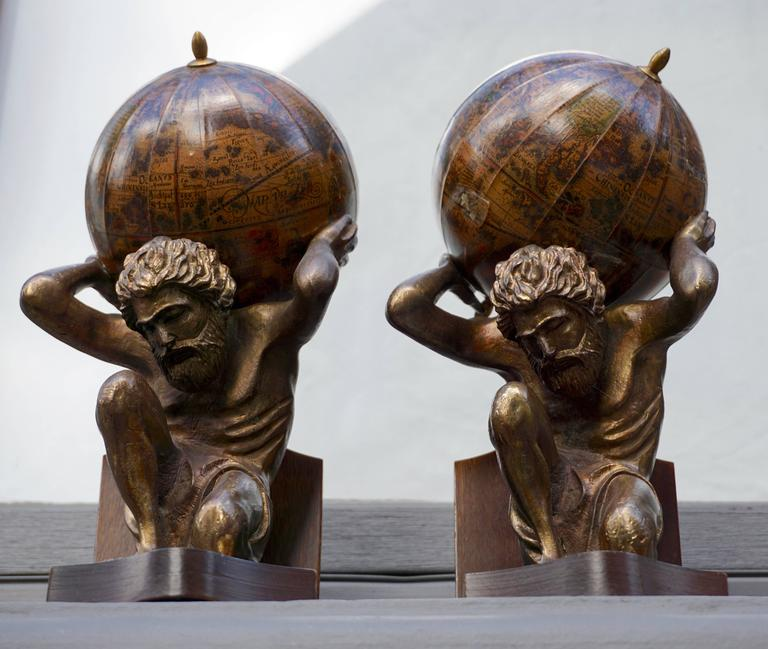 Italian Pair of Vintage Bookends For Sale