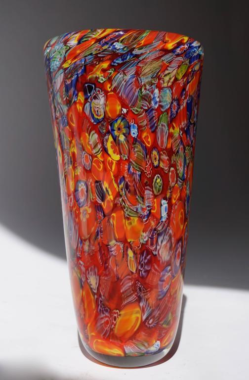 Mid-Century Modern Murano Glass Vase For Sale
