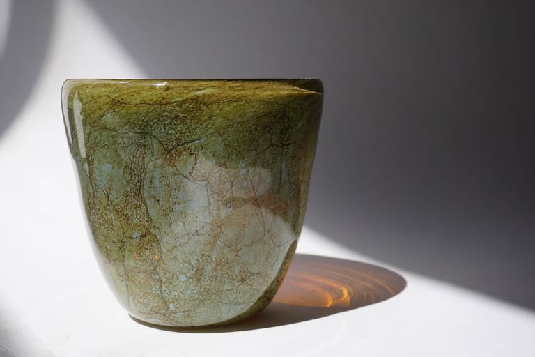 20th Century Italian Murano Glass Vase For Sale