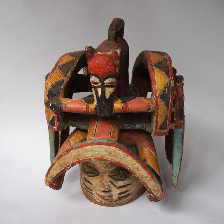 Nigerian Oro Efe Gelede Mask, Nigeria For Sale
