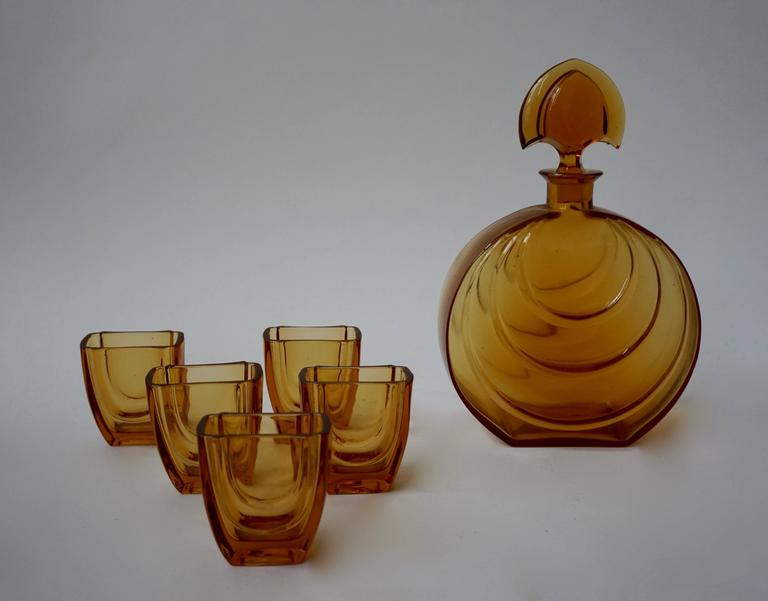 Mid-Century Modern Murano Glass Carafe Set For Sale