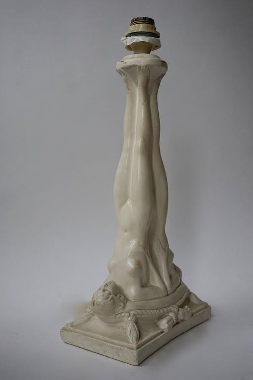 Plaster Table Lamp For Sale