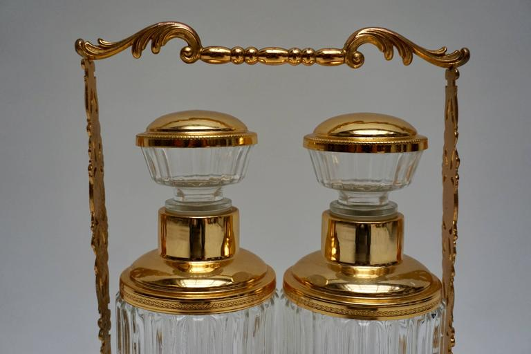 Italian Pair of Cocktail Bar Decanters or Bottles For Sale