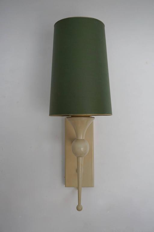 Mid-Century Modern Pair of 1950s Wall Sconces For Sale