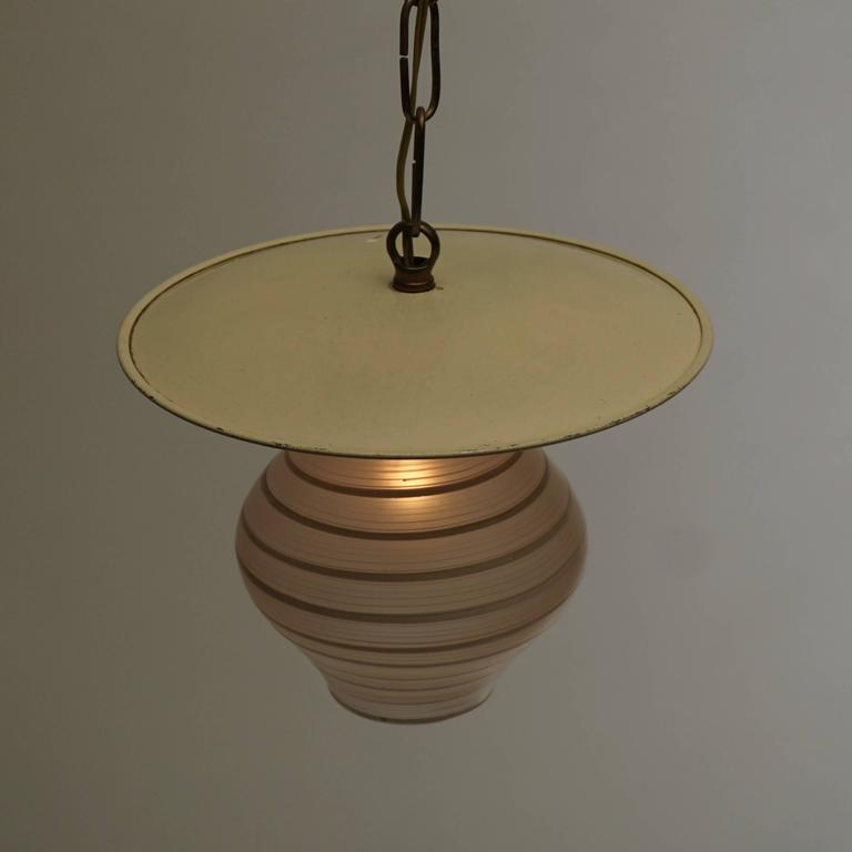 20th Century Murano Glass Pendant Light For Sale