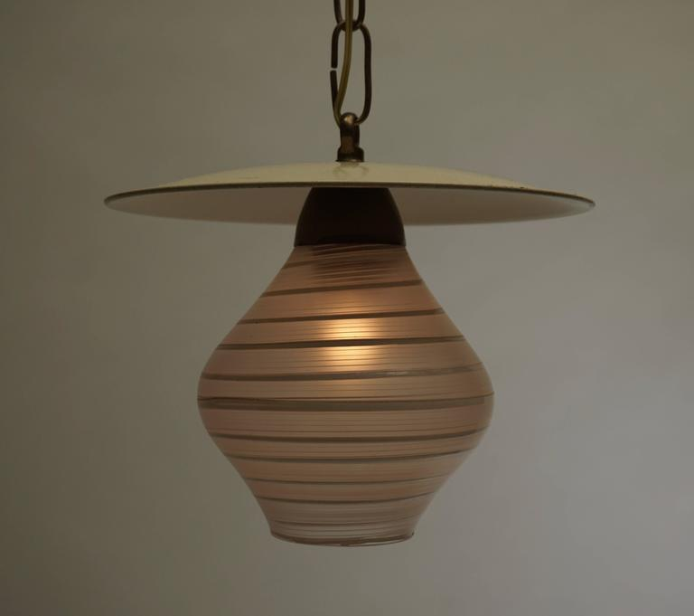 Mid-Century Modern Murano Glass Pendant Light For Sale