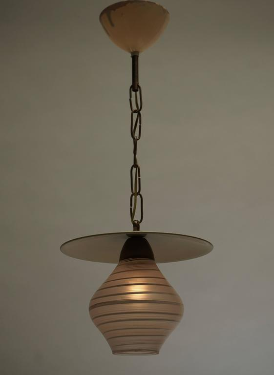 Italian Murano Glass Pendant Light For Sale