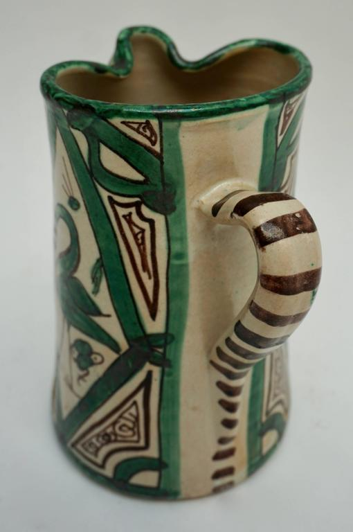 Spanish Ceramic Pitcher, Signed by Domingo Punter In Excellent Condition For Sale In Antwerp, BE