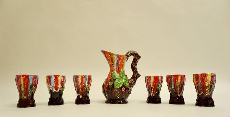 Vallauris Ceramic Drinking Set For Sale 1