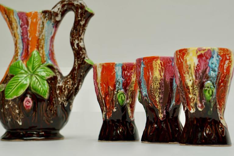 Mid-Century Modern Vallauris Ceramic Drinking Set For Sale
