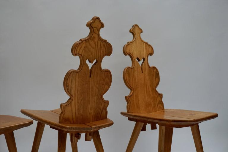 20th Century Set of Four Wooden Chairs For Sale