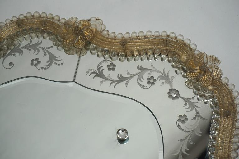 Italian Oval Venetian Mirror For Sale
