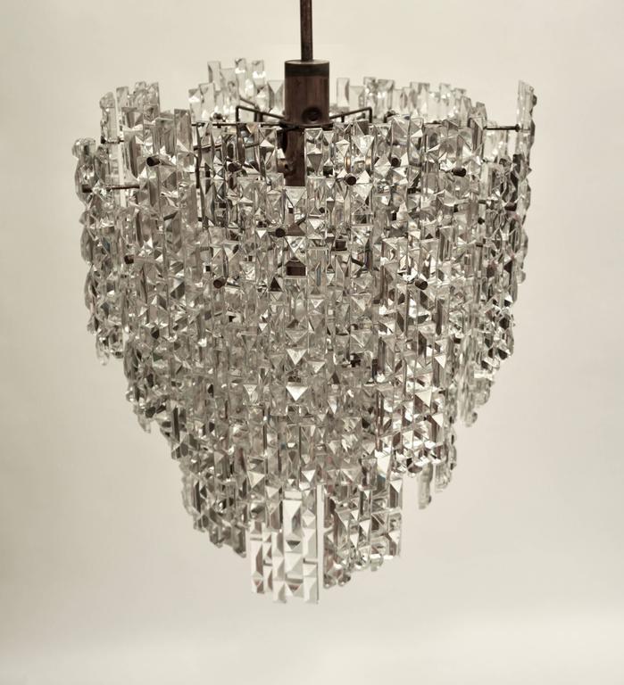 Brass Monumental Kinkeldey Crystal Chandelier For Sale