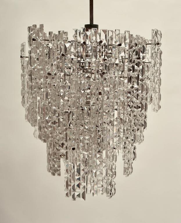 20th Century Monumental Kinkeldey Crystal Chandelier For Sale