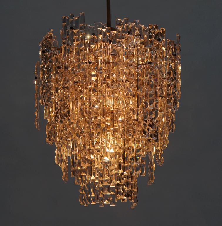Monumental Kinkeldey Crystal Chandelier In Good Condition For Sale In Antwerp, BE