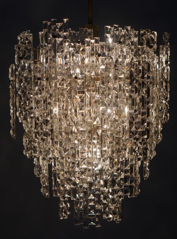 Monumental Kinkeldey Crystal Chandelier For Sale 1
