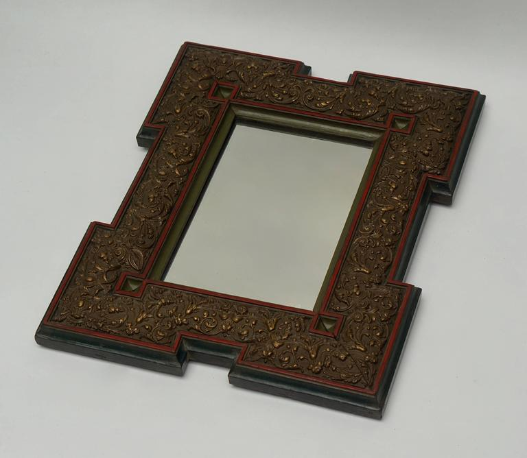 Mirror. Measures: Height 47 cm. width 38 cm. depth 4 cm.