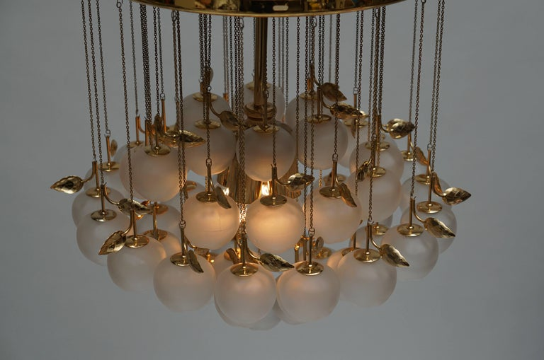 Glass and Brass Chandelier 9