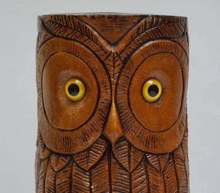 Mid-Century Modern Owl Umbrella Stand For Sale
