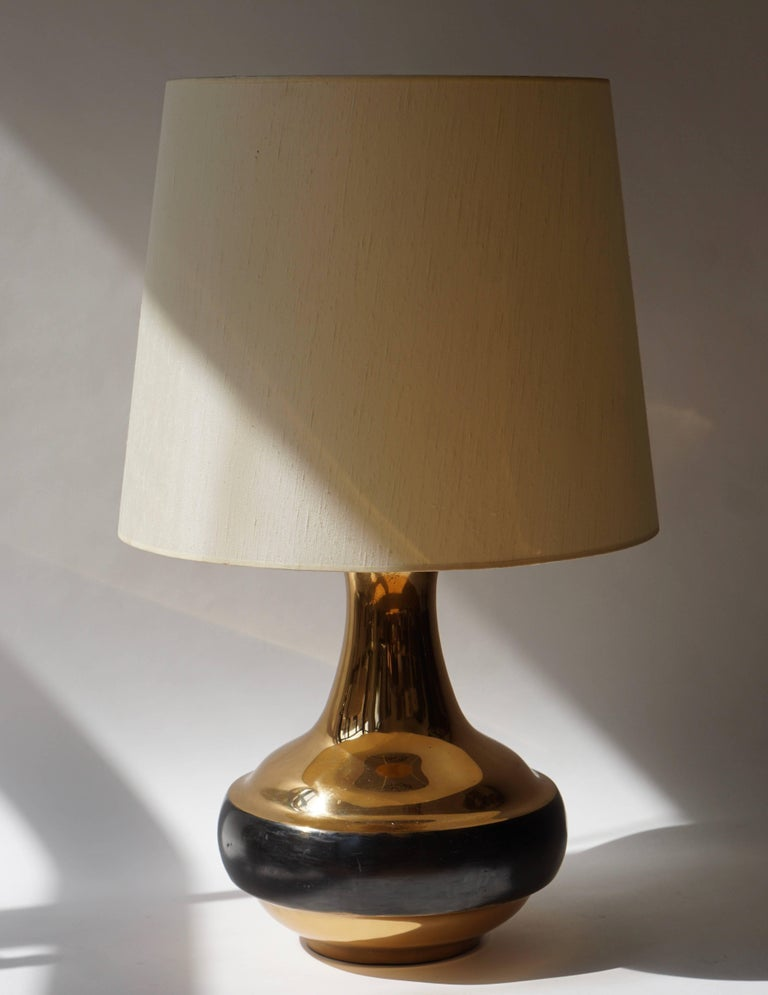 Brass Table or Floor Lamp by Bruno Gambone For Sale