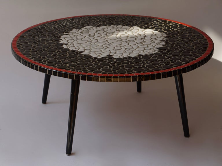 Mid-Century Modern Ceramic Coffee Table For Sale