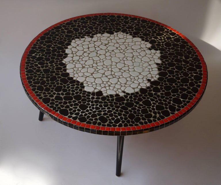 Belgian Ceramic Coffee Table For Sale