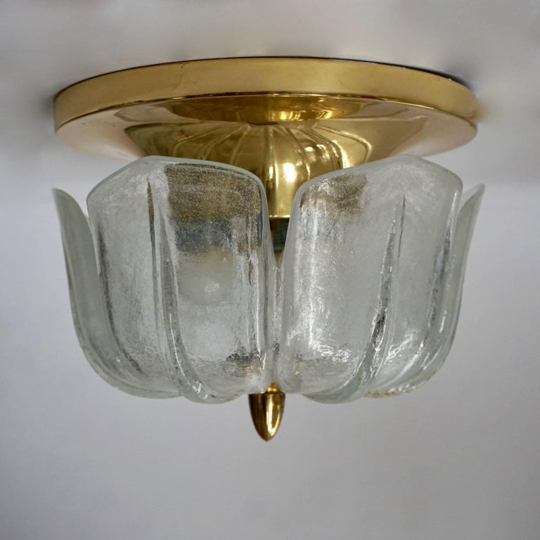 Set of four flush mount ceiling lights or wall lights.