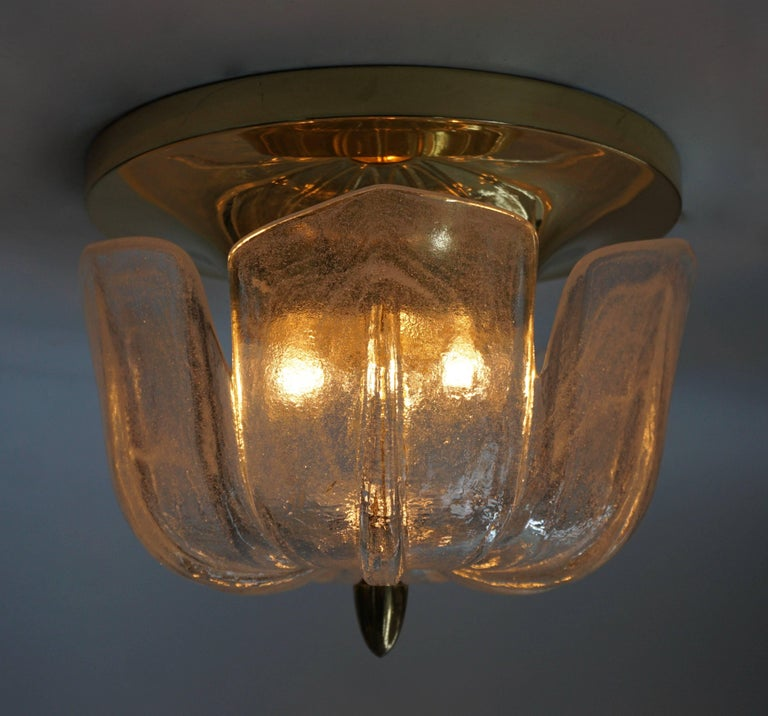 German Four Flush Mount Ceiling Lights For Sale