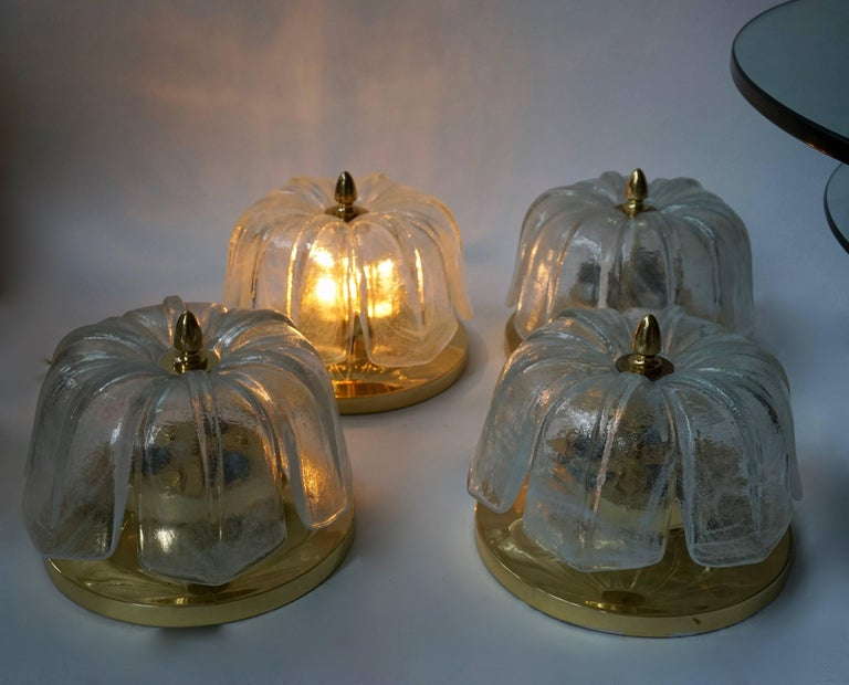 20th Century Four Flush Mount Ceiling Lights For Sale