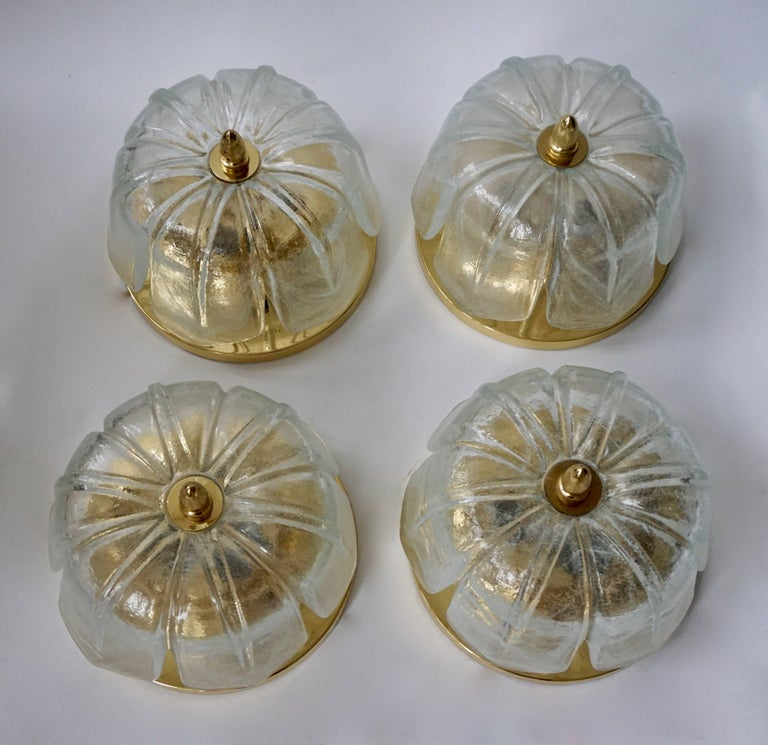 Four Flush Mount Ceiling Lights In Excellent Condition For Sale In Antwerp, BE
