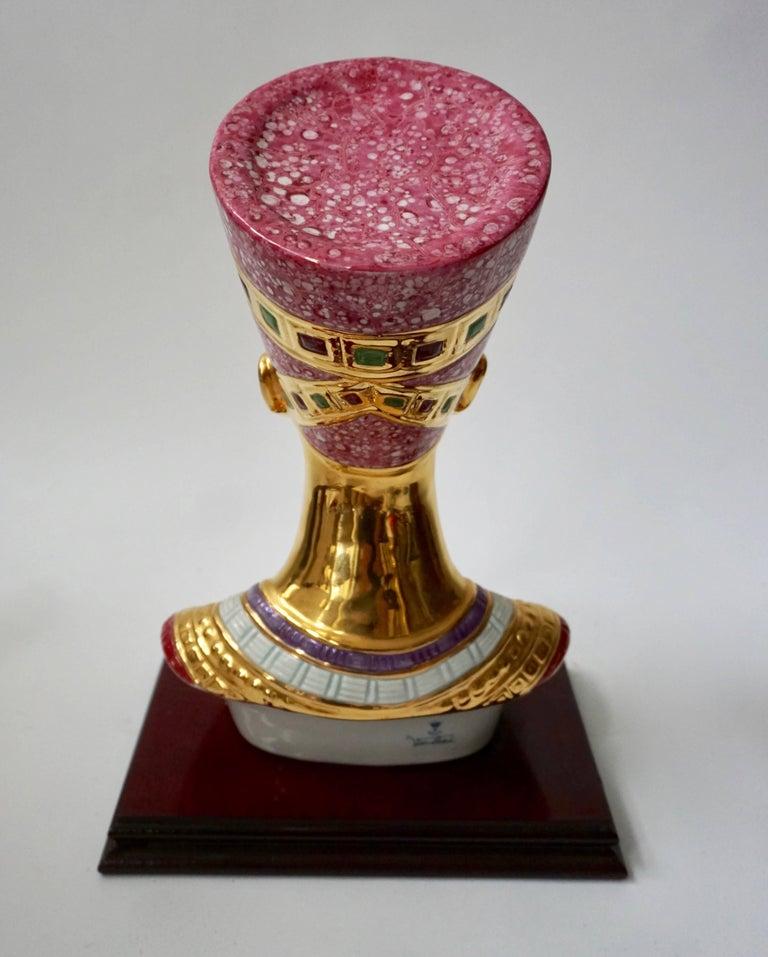 Porcelain Bust of Nefertiti by Vittorio Sabatini, 20th Century For Sale 2