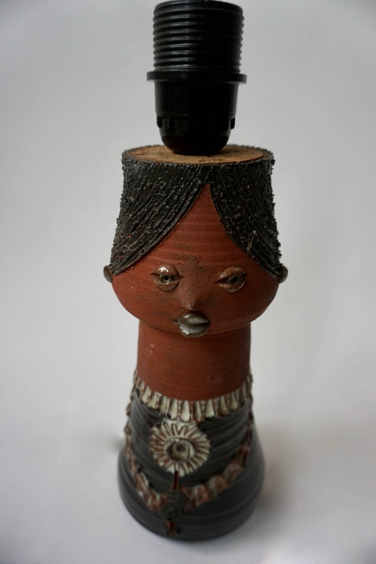 Ceramic Table Lamp by Thérèse Bataille, Belgium, 1960s In Good Condition For Sale In Antwerp, BE