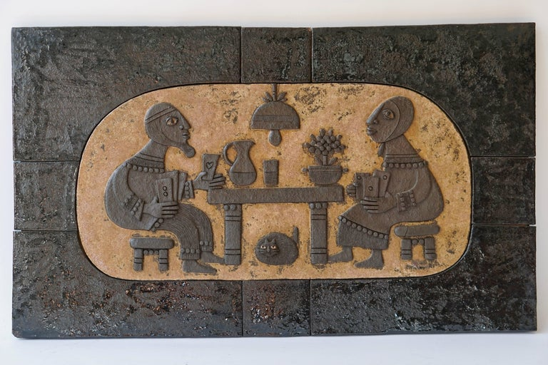 Ceramic Mural Wall Art by Marie Henriette Bataiile For Sale 2