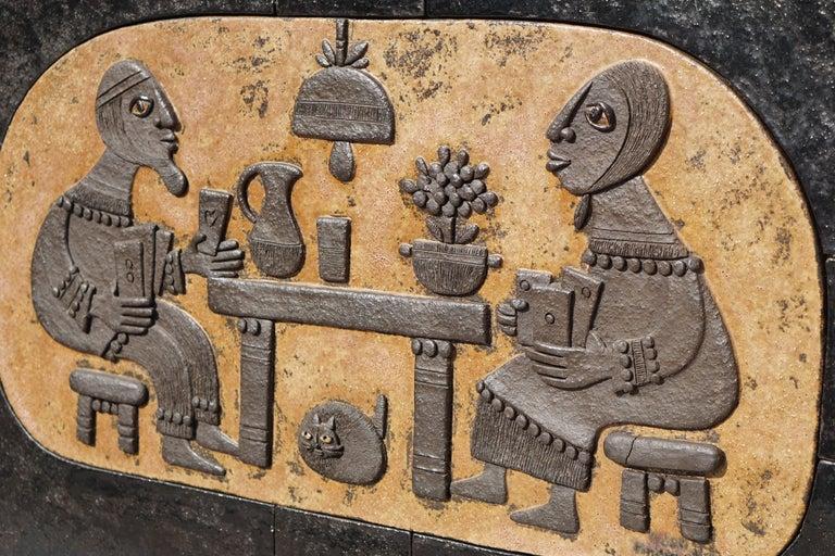 Ceramic Mural Wall Art by Marie Henriette Bataiile 3