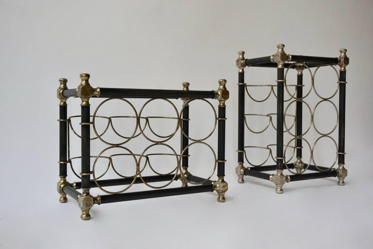 Mid-Century Modern Sculptural 20th Century Wine Rack For Sale