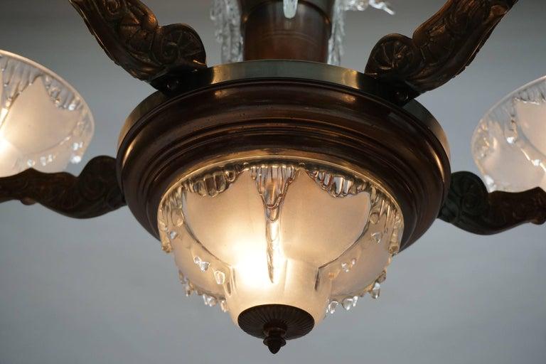 Art Deco Chandelier For Sale 3